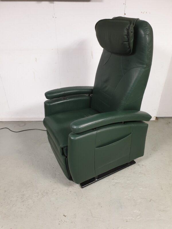 Fitform groen leder sta op stoel