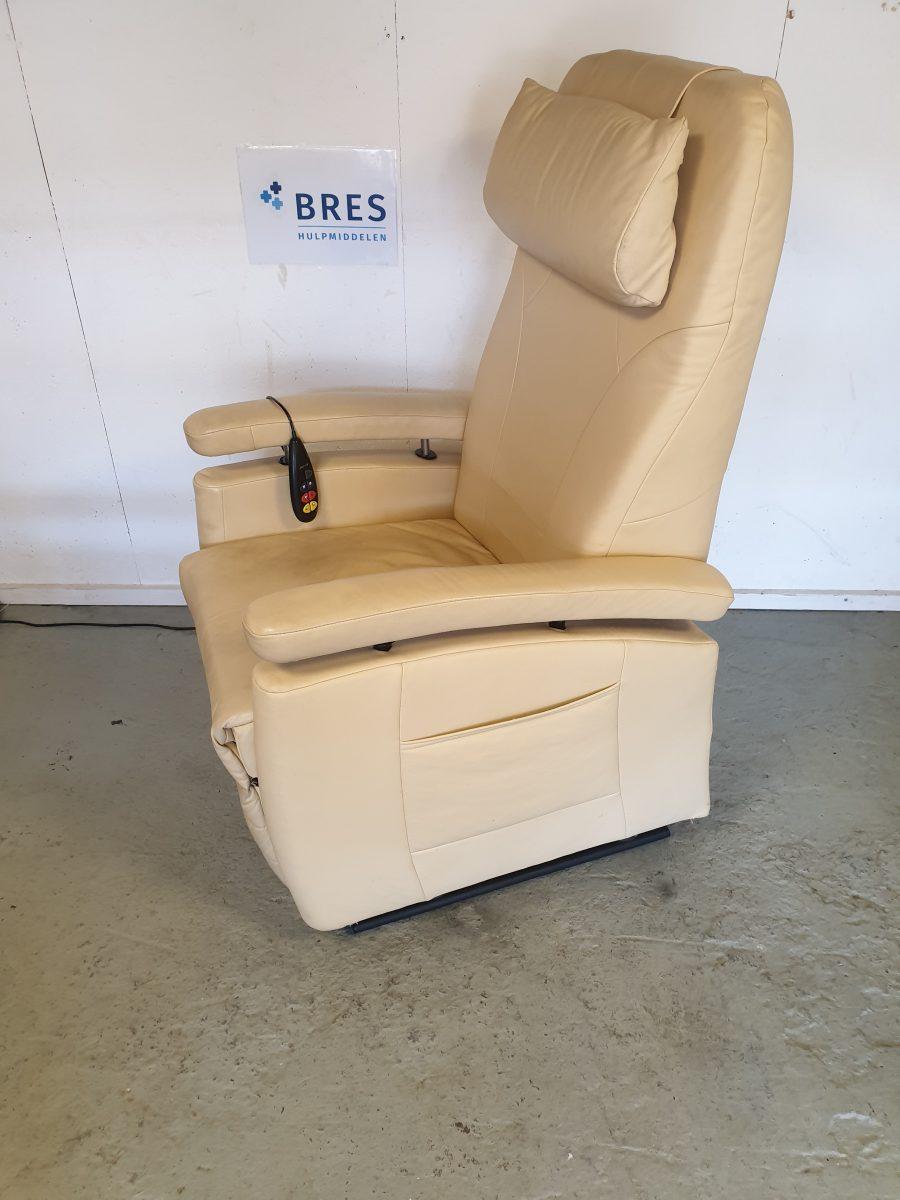 Fitform beige leder sta op stoel