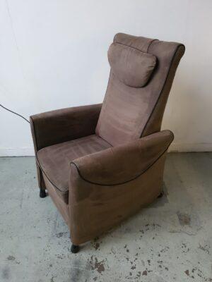 Fitfrom alcantara bruin relax stoel